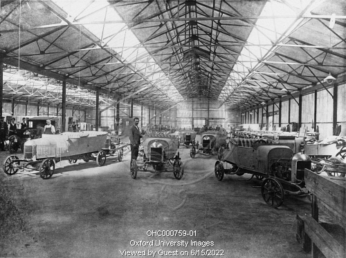 Men Assembling Bullnose Morris Cars At The Morris Motors