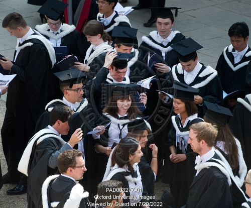 New BA graduates wearing gowns and caps following their Degree ...
